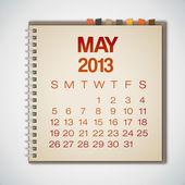 календарь 2013 может ноутбука вектор — Cтоковый вектор