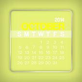 2014 カレンダー 10 月 — ストックベクタ