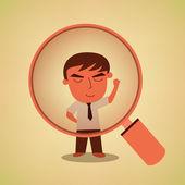 Seeking Great Businessman concept — Stock Vector