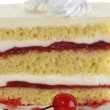 Strawberry Layered Cake — Stock Photo