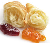 Fresh Croissant And Jam — Stock Photo