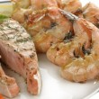 Seafood Plate — Stock Photo