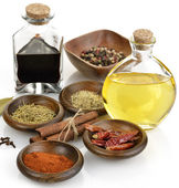 Olive Oil,Vinegar And Spices — Stock Photo
