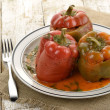 Stuffed Sweet Peppers - Stock Photo