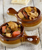 Minestrone Noodle And Vegetable Soup — Stock Photo