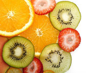Tropical Fruits Background — Stock Photo