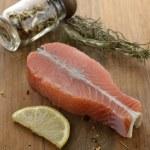 Raw Salmon Fillet — Stock Photo #17256313