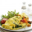 Omelet With Vegetables - Stockfoto