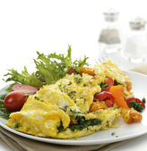 Omelet With Vegetables — Stock Photo