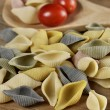 Raw Colorful Pasta — Stock Photo