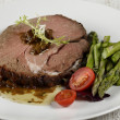 Slice Of Beef Roast - Stockfoto