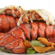 Foto Stock: Grilled Lobster Tail With Asparagus