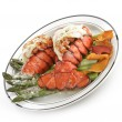 Grilled Lobster Tail Plate — 图库照片