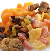 Dried Tropical Fruits Mix — Stock Photo