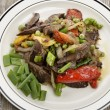 Beef Meat With Vegetables - Stock Photo