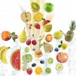 Fresh Fruits Consept — Stock Photo