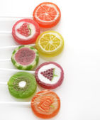 Fruit Lollipops Assortment — 图库照片