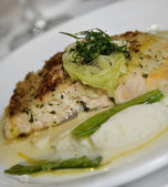 Salmon With Mashed Potatoes — Stok fotoğraf