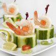 Appetizers With Shrimps — Stock Photo