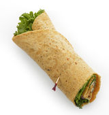 Turkey Wrap Sandwich — Stock Photo