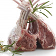 Stockfoto: Racks Of Raw Lamb Ribs