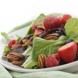 Spring Salad With Berries And Peanuts — Stock Photo