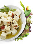 Feta Cheese With Oil And Herbs — Stock Photo