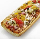 Francouzský chléb pizza — Stock fotografie