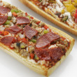french bread pizza — Stock Photo