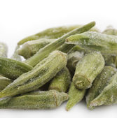 Frozen Okra — Stock Photo