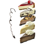 Cheesecake Slices — Stock Photo