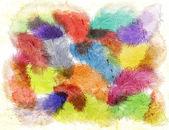 Obraz akvarel peří — Stock fotografie
