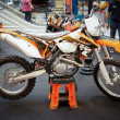 Stock Photo: BANGKOK - SEPTEMBER 22: KTM 500 EXC, Enduro on display at th