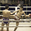 Royalty-Free Stock Photo: BANGKOK, THAILAND- OCTOBER 04 : Unidentified boxers compete in T