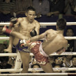 Stock Photo: BANGKOK, THAILAND- OCTOBER 04 : Unidentified boxers compete in T