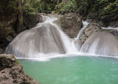 Erawan Waterfall, level 4 Kanchanaburi, Thailand — Stock Photo