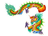 Chinese style dragon statue on white — Stock Photo