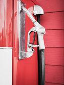 Plynové trysky čerpadlo v čerpací stanice — Stock fotografie