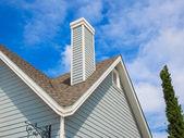 Roof with chimney — Zdjęcie stockowe