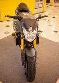 BANGKOK - SEPTEMBER 22: Yamaha FZ8 on display at the Promenade B — Foto Stock