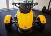 BANGKOK - SEPTEMBER 22: The Can-Am Spyder RS Roadster on display — Foto Stock