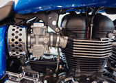 BANGKOK - SEPTEMBER 22: Triumph America engine on display at the — Foto de Stock