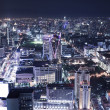 Cityscape night, Bangkok bird eye view — Stock Photo
