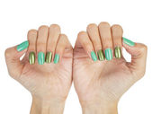 Women hands with nail manicure — Stock Photo