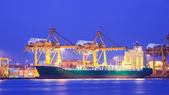 Logistic concept, container cargo ship transport import export i — Photo