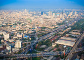 Cityscape, Bangkok bird eye view — Stock fotografie