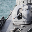 Stock Photo: Cannon on Navy Battleship