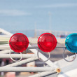 Stock Photo: Traffic warning lights on ship