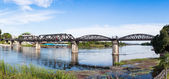 Steel Bridge of the River Kwai in Thailand — Stock Photo