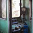 Old controle room of train — Stock Photo #22353409